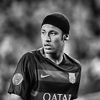 Neymar of FC Barcelona during the UEFA Champions League Group E football match between FC Barcelona and Bate Borisov on November 4, 2015 at Camp Nou stadium in Barcelona, Spain.<br /> Editors Note: This image was processed using digital filters. <br /> Photo Manuel Blondeau/AOP.Press/DPPI