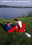 Young Adult Couple, Physical Exercise, Riverfront Park, Harrisburg, PA