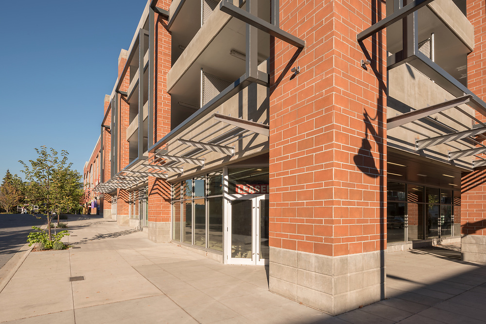Photograph of Memorial Parkade in downtown Kelowna, BC, Canada by Brett Gilmour Photography.