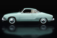 The Volkswagen Karmann Ghia was built to boost Volkswagen's image. Here Jan Keteleer has shown this Volkswagen Karmann Ghia in an original color from 1959 seen from the side. Volkwagen has with this Karmann Ghia one of the most beautiful Volkswagens ever made. - -<br />