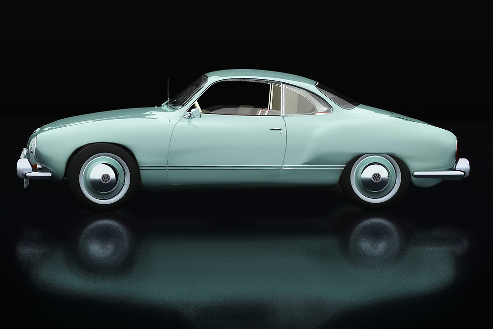 The Volkswagen Karmann Ghia was built to boost Volkswagen's image. Here Jan Keteleer has shown this Volkswagen Karmann Ghia in an original color from 1959 seen from the side. Volkwagen has with this Karmann Ghia one of the most beautiful Volkswagens ever made. - -<br /> BUY THIS PRINT AT<br /> <br /> FINE ART AMERICA<br /> ENGLISH<br /> https://janke.pixels.com/featured/volkswagen-karmann-ghia-lateral-view-jan-keteleer.html<br /> <br /> WADM / OH MY PRINTS<br /> DUTCH / FRENCH / GERMAN<br /> https://www.werkaandemuur.nl/nl/shopwerk/Volkswagen-Karmann-Ghia-Zijaanzicht/738628/132?mediumId=11&size=75x50<br /> <br /> -