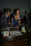 INVAR EMIN; TRACEY EMIN. Julia, Mark and Francesca host a party for Tracey Emin and her new Travelling chess set. RS&A Ltd. 50b Buttesland St. Hoffman Sq. London N1. 12 October 2008 *** Local Caption *** -DO NOT ARCHIVE-© Copyright Photograph by Dafydd Jones. 248 Clapham Rd. London SW9 0PZ. Tel 0207 820 0771. www.dafjones.com.