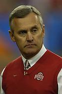 MORNING JOURNAL/DAVID RICHARD.Ohio State head coach Jim Tressel before the BCS National Championship game vs. Florida.
