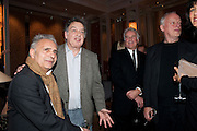 HANIF KUREISHI; STEPHEN FREARS; SIR RICHARD EYRE; DAVID GILMOUR; POLLY SAMSON; , Ella Krasner and Pablo Ganguli host a Liberatum dinner in honour of Sir V.S.Naipaul. The Landau at the Langham. London. 23 November 2010. -DO NOT ARCHIVE-© Copyright Photograph by Dafydd Jones. 248 Clapham Rd. London SW9 0PZ. Tel 0207 820 0771. www.dafjones.com.