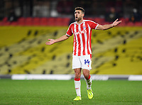 Football - 2020 / 2021 Sky bet Championship - Watford vs Stoke City - Vicarage Road<br /> <br /> Stoke City's Tommy Smith complains after the equalising goal.<br /> <br /> COLORSPORT/ASHLEY WESTERN