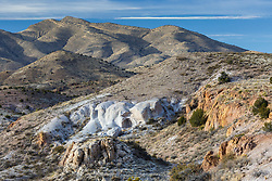 Colorful rocks and hoodoos in Sophio Canyon, Ladder Ranch, west of Truth or Consequences, New Mexico, USA.