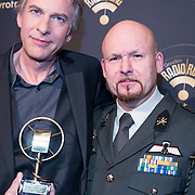NLD/Hilversum/20180125 - Gouden RadioRing Gala 2017, Adam Curry en vriend Marco Kroon