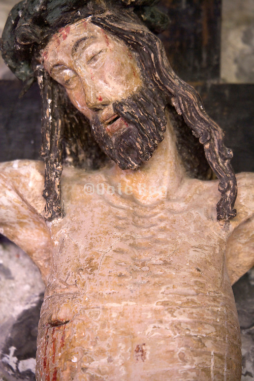 close up of Jesus on the cross