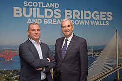 Steve Dunlop (left), chief executive of Scottish Enterprise, with Lord Smith, chairman, at the organisation's head office in Waterloo Street, Glasgow. Pic: Terry Murden @edinburghelitemedia