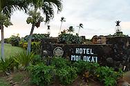 The Hotel Molokai in the town of Kaunakakai, Molokai, Hawaii, USA