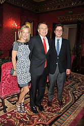 Ambassador EARLE MACK with his wife CAROL MACK and son ANDREW MACK at Ambassador Earle Mack's 60's reunion party held at The Ritz Hotel, London on 18th June 2012.