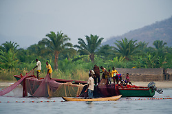 Local village fisherman work to catch enough fish to make a living to sell to the local market in the village of Katumbi on Lake Tanganyika in Tanzania August 27, 2011. (Photo by Ami vitale)