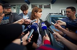 Barbara Kuerner Cad, director of SZS during press conference of Ski Association of Slovenia (SZS) after resignation of T. Lovse, president of SZS after his affair with J. Kocijancic, on June 5, 2012 at SZS, Ljubljana, Slovenia. (Photo by Vid Ponikvar / Sportida.com)