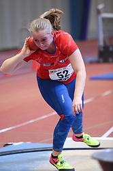 Thea Jensen. Danske Mesterskaber indendørs i atletik 2017  i Spar Nord Arena, Skive, Denmark, 18.02.2017. Photo Credit: Allan Jensen/EVENTMEDIA.