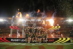 December 2, 2017 - Brisbane, Australie - Australia v England 2017 Rugby League World Cup Final Australia team celebrate winning the 2017 Rugby League World Cup Final at Brisbane Stadium, Brisbane P (Credit Image: © Panoramic via ZUMA Press)