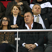Galatasaray's coach Fatih Terim during their Turkish Airlines Euroleague Basketball Top 16 Group E Game 2 match Galatasaray between Olympiacos at Abdi Ipekci Arena in Istanbul, Turkey, Thursday, January 26, 2012. Photo by TURKPIX