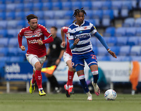 Reading's Michael Olise (right) under pressure from Middlesbrough's Patrick Roberts ( left) <br /> <br /> Photographer David Horton/CameraSport<br /> <br /> The EFL Sky Bet Championship - Reading v Middlesbrough - Tuesday July 14th 2020 - Madejski Stadium - Reading<br /> <br /> World Copyright © 2020 CameraSport. All rights reserved. 43 Linden Ave. Countesthorpe. Leicester. England. LE8 5PG - Tel: +44 (0) 116 277 4147 - admin@camerasport.com - www.camerasport.com