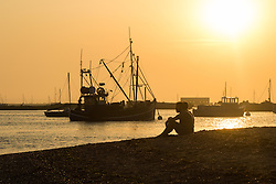 Mersey Island, Essex, August 25th 2016.  Sunset seen from west Mersea, an island on Essex's coast. ©Paul Davey<br /> FOR LICENCING CONTACT: Paul Davey +44 (0) 7966 016 296 paul@pauldaveycreative.co.uk