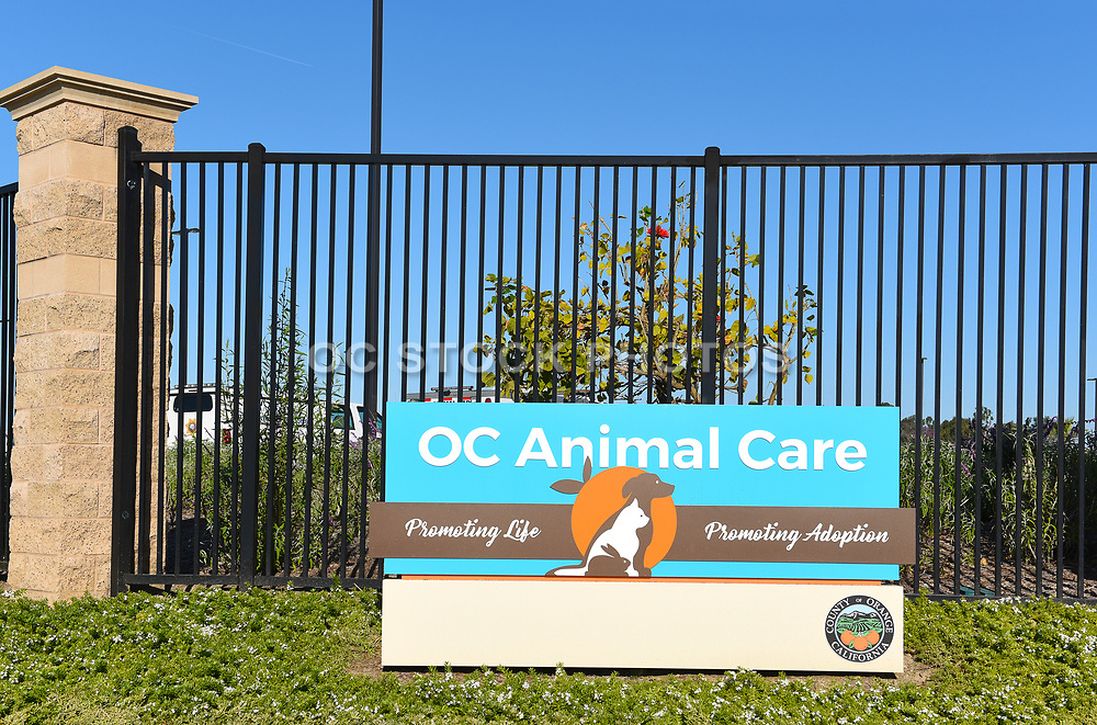 Sign for the OC Animal Care Facility
