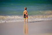 Boy on beach, Kailua, Oahu, Hawaii