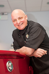 Celebrity Chef Aldo Zilli at Lookers Sheffield for an evening of fine Italian food and wine to celebrate the opening of their Alfa Romeo dealership in Savile Street. ..7 April 2011.Images © Paul David Drabble