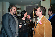 KEITH TYSON; SUE WEBSTER; GIGI GIANUZZI, Polly Morgan 30th birthday. The Ivy Club. London. 20 January 2010