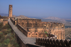 Nahagarh Fort on the hills northeast of Jaipur; Rajasthan; India,