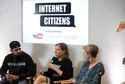 EDITORIAL USE ONLY<br /> Yvette Cooper MP, Chair of the Home Affairs Select Committee (right), joins Susan Wojcicki, CEO YouTube and Humza Arshad YouTube creator at a YouTube Internet Citizens workshop, which aims to tackle online hate and fake news, at the Google Academy in Victoria, London.