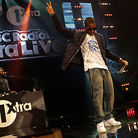 Tinchy Stryder performing on the opening night of the BBC 1Xtra Live tour at Manchester's O2 Apollo, 2011-11-28