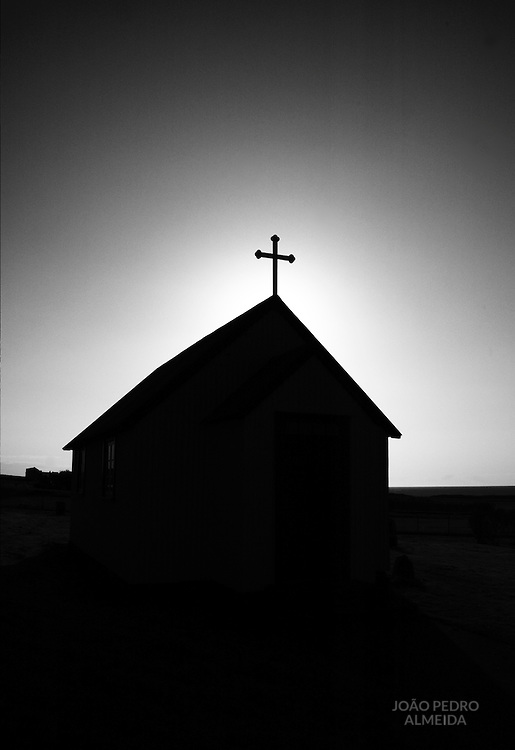 Small chapel in a farm of Iceland's East fjords