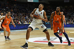 December 19, 2017 - Madrid, Madrid, Spain - Tavares, #22 of Real Madrid in action during the 2017/2018 Turkish Airlines EuroLeague Regular Season Round 13 game between Real Madrid and Valencia Basket at WiZink center in Madrid. (Credit Image: © Jorge Sanz/Pacific Press via ZUMA Wire)