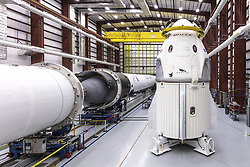 December 18, 2018 - Cape Canaveral, Florida, United States of America - The SpaceX NASA Dragon commercial crew capsule Demo-1 sits in the SpaceX hangar at the Kennedy Space Center December 18, 2018 in Cape Canaveral, Florida. The unmanned demonstration flight is scheduled to lift off to the International Space Station on January 17, 2019 from Cape Canaveral, Florida. (Credit Image: © Spacex via ZUMA Wire)