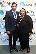 New York, NY-March 15: (L-R) Keith Clinkscales, ESPN  and Tanya Lombard, Assistant Vice President, Public Affairs of AT&T attend the 2018 'Humanity of Connection' Awards Ceremony powered by AT&T and held at Jazz at Lincoln Center on March 15, 2018 in New York City. (Photo by Terrence Jennings/terrencejennings.com)