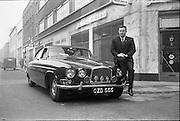 22/02/1963.02/22/1963.22 February 1963.New Jaguar car handed over to Mr. Glynn at Joe Malone's Self-drive, Fleet street, Dublin.