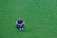 Photo: Glyn Thomas.<br />Italy v France. FIFA World Cup 2006 Final. 09/07/2006.<br /> Italy's Fabio Cannavaro reflects on winning the World Cup.