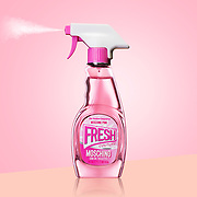 Moschino Fresh perfume in quirky household spray packaging.