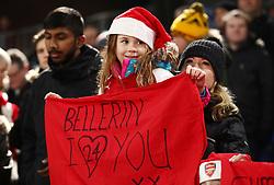 A young Arsenal fan before the Premier League match at Selhurst Park, London.