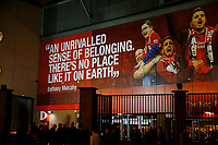 Football - 2019 / 2020 UEFA Champions League - Group E: Liverpool vs. Napoli<br /> <br /> A general view of the exterior of the Kop Stand, at Anfield.<br /> <br /> COLORSPORT/ALAN MARTIN