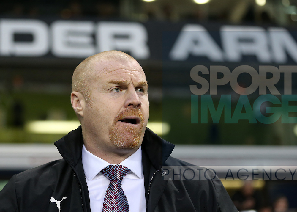 Burnley's Sean Dyche in action during the Premier League match at White Hart Lane Stadium, London. Picture date December 18th, 2016 Pic David Klein/Sportimage