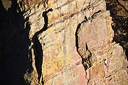 Two climbers on the The Bastille, Eldorado Canyon State Park, Colorado.