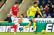 Norwich City midfielder Josh Murphy (11) sprints forward during the EFL Sky Bet Championship match between Norwich City and Barnsley at Carrow Road, Norwich, England on 18 November 2017. Photo by Phil Chaplin.