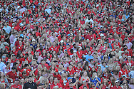 Mississippi Rebels fans against Vanderbilt Commodores at Vaught-Hemingway Stadium at Ole Miss in Oxford, Miss. on Saturday, September 26, 2015. Ole Miss won 27-16.