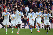 Lamine Kone of Sunderland (3rd left) celebrates after scoring his teams  first goal of the game. Premier League match, Crystal Palace v Sunderland at Selhurst Park in London on Saturday 4th February 2017. pic by Steffan Bowen, Andrew Orchard sports photography.
