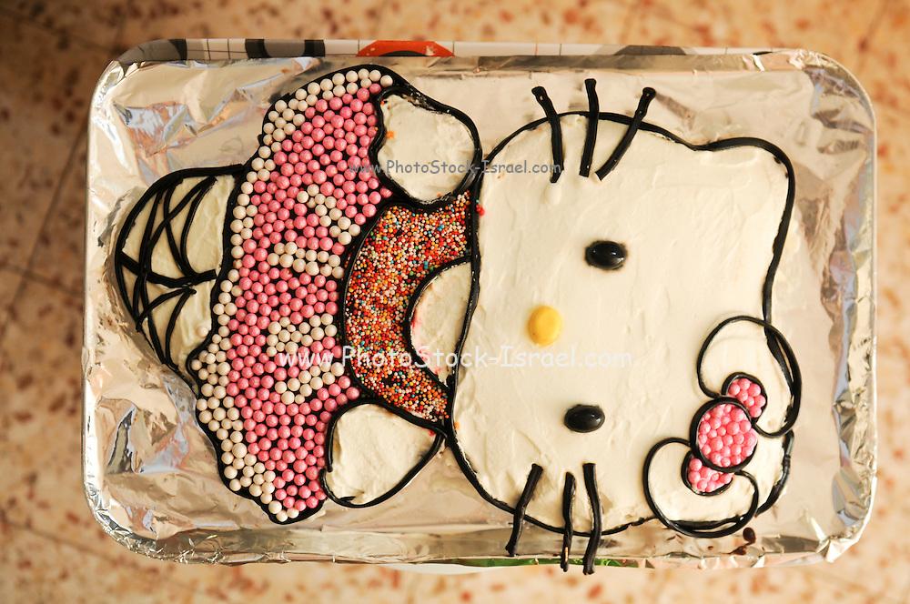 Little kitty birthday cake