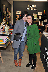 Left to right, SHARLEEN SPITERI and GILLIAN McVEY at the House of Voltaire pop up shop at 17A Adam's Row, London followed by a party at Sketch, Conduit Street, London on 20th November 2012.