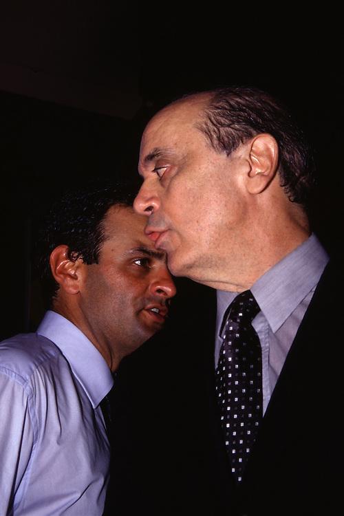 Belo Horizonte _ MG...Retrato dos politicos Aecio Neves e Jose Serra...Portrait of politicians Aecio Neves and Jose Serra...Foto: BRUNO MAGALHAES / NITRO