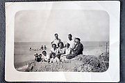 family summer vacation at the beach ca 1950s Netherlands