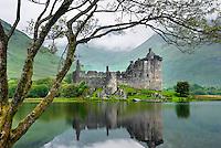 Kilchurn Castle at the head of Loch Awe Scotland