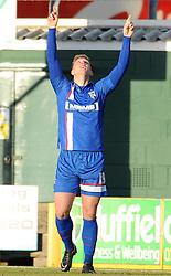 Gillingham's Luke Norris celebrates his sides goal   - Photo mandatory by-line: Harry Trump/JMP - Mobile: 07966 386802 - 21/02/15 - SPORT - Football - Sky Bet League One - Yeovil Town v Gillingham - Huish Park, Yeovil, England.