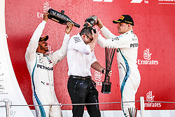 May 13, 2018 - Barcelona, Spain - Motorsports: FIA Formula One World Championship 2018, Grand Prix of Spain, .#44 Lewis Hamilton (GBR, Mercedes AMG Petronas Motorsport), Peter Bonnington, #77 Valtteri Bottas (FIN, Mercedes AMG Petronas Motorsport) (Credit Image: © Hoch Zwei via ZUMA Wire)
